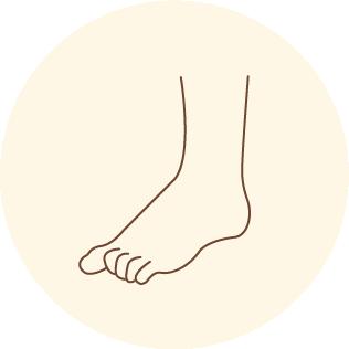 足指を握る癖