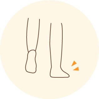 足を外側に向けて置く癖